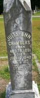 Profile photo:  Julia Ann <I>Gillespie</I> Chambers