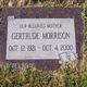 Profile photo:  Gertrude Pierce <I>Hamilton</I> Morrison