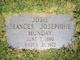 """Frances Josephine """"Josie"""" <I>Jenkins</I> Munday"""