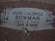 Profile photo:  Annie <I>Caldwell</I> Bowman