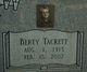 Profile photo:  Berty <I>Tackett</I> Wootton