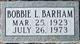 Profile photo:  Bobbie Lee <I>Burns</I> Barham