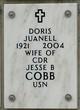 Doris C. <I>Juanell</I> Cobb