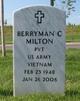 Profile photo:  Berryman C. Milton