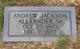 Profile photo:  Andrew Jackson Alexander