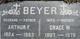 Profile photo:  Arthur Frederick Beyer