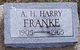 Profile photo:  A.H. Harry Franke