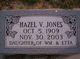 Hazel V. Jones