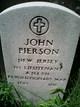 Lieut John Pierson