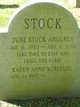 Profile photo:  June <I>Stock</I> Ahlgren
