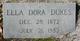 """Ella Eudora """"Dora"""" <I>Bruce</I> Dukes"""