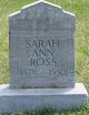Sarah Ann <I>Hensley</I> Ross