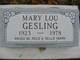 Mary Luellen <I>Cherwinker</I> Gesling