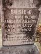 Profile photo:  Susie E <I>Crow</I> Abshire
