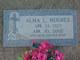 Profile photo:  Alma Louise <I>Miller</I> Hughes