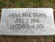 Profile photo:  Anna Mae Dunn