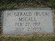 """H. Gerald """"Buck"""" McCall"""