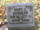 Mary E. <I>Davis</I> Kunkler