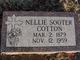 Profile photo:  Nellie <I>Sooter</I> Cotton