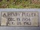 Profile photo:  A. Henry Fuller