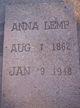 Profile photo:  Anna <I>Tanner</I> Lemp