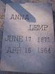 Profile photo:  Anna Lemp