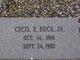 Profile photo:  Cecil Edwin Buck, Jr