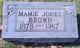 Mamie <I>Jones</I> Brown
