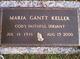 """Maria Nelson """"Ria"""" <I>Gantt</I> Keller"""