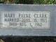 Mary <I>Payne</I> Clark