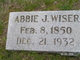 Profile photo:   Abbie J <I>Hart</I> Wiser,