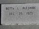 Profile photo:  Betty L <I>Huffman</I> Aleshire