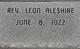 Rev Leon W Aleshire