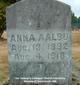 Profile photo:  Anna <I>Peterson</I> Aalbu