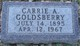 Carrie A <I>Haire</I> Goldsberry