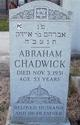 "Profile photo:  Abraham ""Chick"" Chadwick"