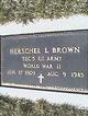 Profile photo:  Herschel L Brown