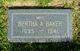 Bertha A <I>Marksworth</I> Baker