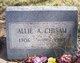 Profile photo:  Allie A. Chisam
