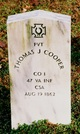 Pvt Thomas J Cooper