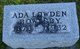Profile photo:  Ada R <I>Lowden</I> Bowlsby