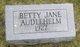 Betty Jane Audlehelm