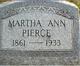 Martha Ann Pierce