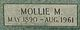 Mollie Mae <I>Blackwell</I> Hodge