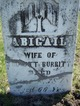 Profile photo:  Abigail <I>Whitlock</I> Burritt