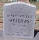 Profile photo:  Henry William Meadows