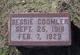 Profile photo:  Bessie Coomler
