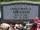 Christopher D Abraham