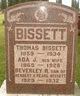 Profile photo:  Ada Jane <I>Brown</I> Bissett