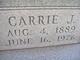 Carrie Josephine <I>Rose</I> Shorb
